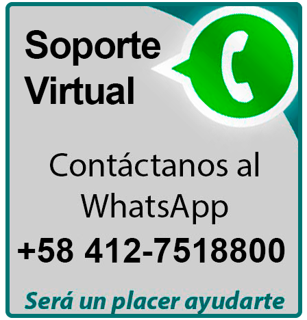 Soporte 24/7 +58 4127518800